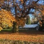 Tissington Hall WEDDING VENUE PEAK DISTRICT outside autumn