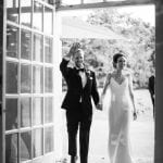 Kew Gardens Wedding Venue West London Couple entering Orangery