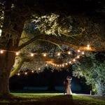Tissington Hall WEDDING VENUE PEAK DISTRICT night fairy lights