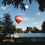 Tissington Hall WEDDING VENUE PEAK DISTRICT hot air balloon