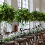 Kew Gardens Wedding Venue West London Orangery long tables