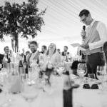 Tissington Hall WEDDING VENUE PEAK DISTRICT Outside black and white