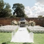 Braxted Park wedding aisle outdoor wedding ceremony 1
