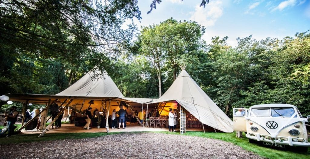How to Plan a Wedding for £3000 tipi VW 1