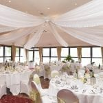 Weald of Kent Golf Course & Hotel wedding breakfast gold min 2