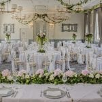 De Vere Wokefield Estate Lincoln Wedding Breakfast Top Table min 3