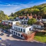 Webbington Hotel and Spa Drone shot min 1