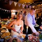 The Flying Fish Barn bride with buffet 12