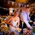 The Flying Fish Wedding Barn bride with buffet 16