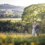 The Flying Fish Wedding Barn couple in field photo 9