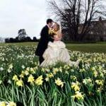 Burton Court Wedding Venue Herefordshire wedding couple