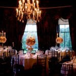 Prestonfield wedding venue Edinburgh dining room