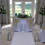 Bearwood Lakes Golf Club Ceremony set up 18
