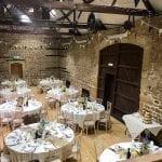 The Barns at Hunsbury Hill Wedding Venue Northampton wedding breakfast view