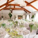 Coed-Y-Mwstwr Hotel Wedding Breakfast Green