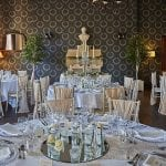 Stanbrook Abbey Wedding Venue Malvern West Midlands table dining