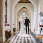 Stanbrook Abbey Wedding Venue Malvern West Midlands aisle