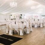 Stanbrook Abbey Wedding Venue Malvern West Midlands dining table chairs