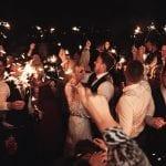 Beeston Manor Wedding Venue Lancashire Hoghton Preston sparklers