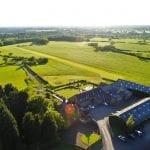 Beeston Manor Wedding Venue Lancashire Hoghton Preston aerial shot