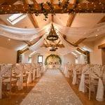 Beeston Manor Wedding Venue Lancashire Hoghton Preston interior aisle