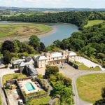 Pentillie Castle AA Pentillie Castle with pool Pentillie Drone STILLS Kite Vision (1 of 19) 1