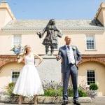 Pentillie Castle Bev Adrian pentille castle devon wedding photographer rebecca roundhill min 12