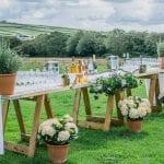 Trevenna Wedding Venue Liskeard Cornwall West Country outside table