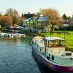 Alveston Manor Hotel Wedding Venue Clopton Bridge Stratford upon Avon Warwickshire river and boat
