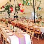 Cornish Tipi Wedding Breakfast