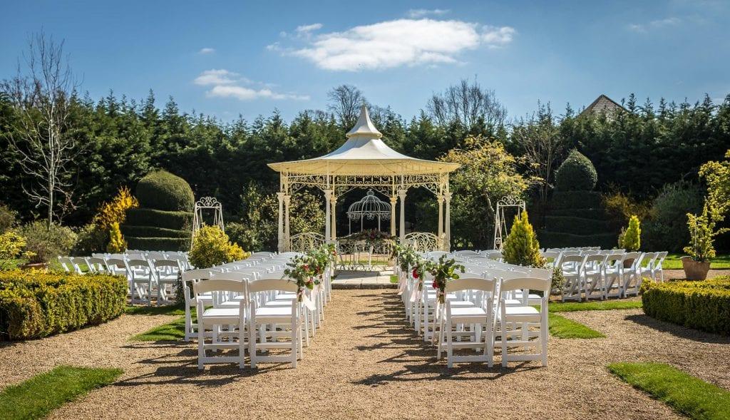 Manor by the lake wedding venue cheltenham outdoor ceremony