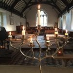 The Gwenfrewi Project wedding venue Conwy NORTH WALES candles