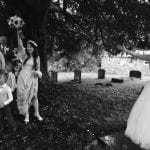 The Gwenfrewi Project wedding venue Conwy NORTH WALES outside bouquet