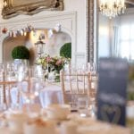 Weston Hall wedding venue Stafford STAFFORDSHIRE dining chairs