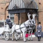 Villiers Hotel wedding venue Buckinghamshire horse and cart