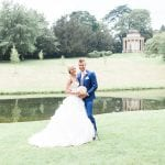 Villiers Hotel wedding venue Buckinghamshire Bride and Groom garden lake
