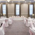 Villiers Hotel wedding venue Buckinghamshire aisle