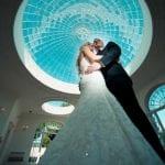Barton Hall wedding venue Northamptonshire married bride and groom