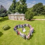 Barton Hall wedding venue Northamptonshire outdoor heart family