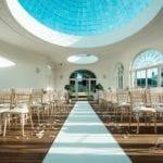 Barton Hall wedding venue Northamptonshire walkway