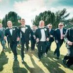 Barton Hall wedding venue Northamptonshire outdoor groom groomsmen