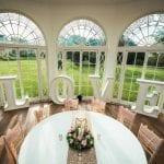 Barton Hall wedding venue Northamptonshire love table