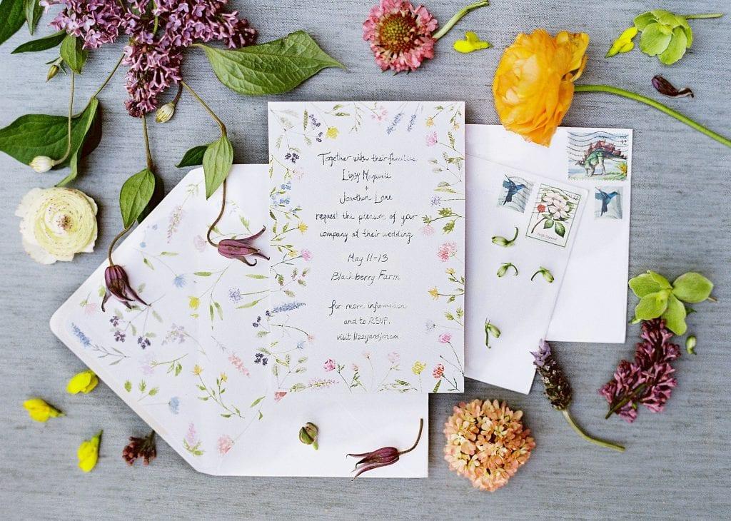 wedding invitation design Natalie watson