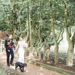 Stanlake Park & Vineyard wedding venue Berkshire bride and groom garden