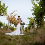 Stanlake Park & Vineyard wedding venue Berkshire bride and groom outdoors