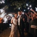 Stanlake Park & Vineyard wedding venue Berkshire bride and groom sparklers