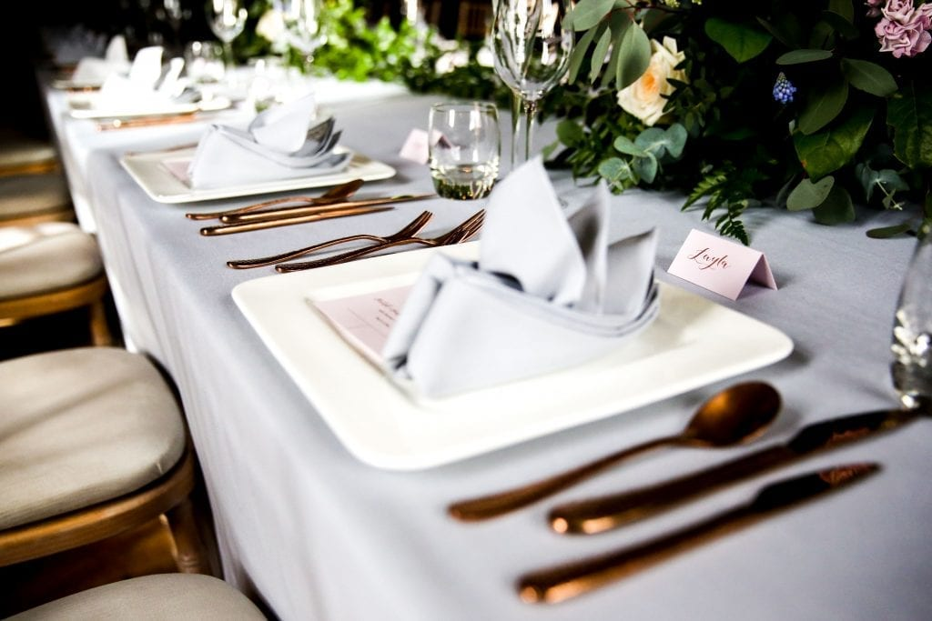 The Ultimate Wedding Photography Shot List Close up table min 7