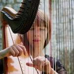 Wedding entertainment harpist