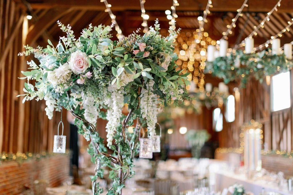 Lillibrooke Manor & Barns wedding venue floral decoration