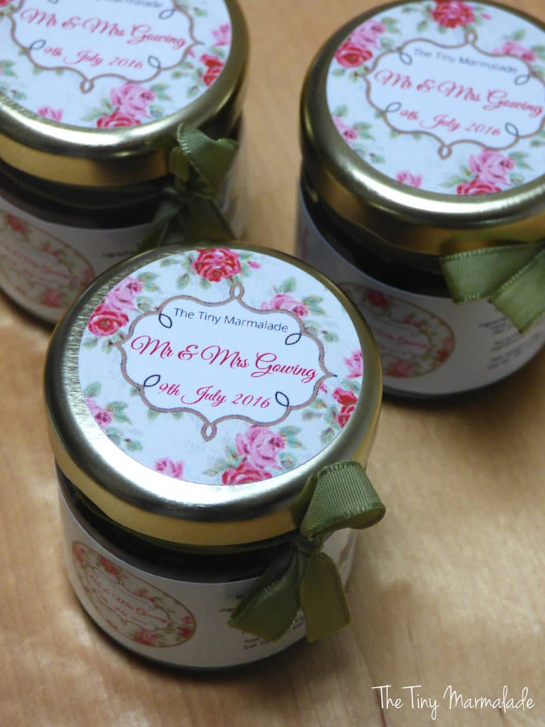 homemade jam wedding favour